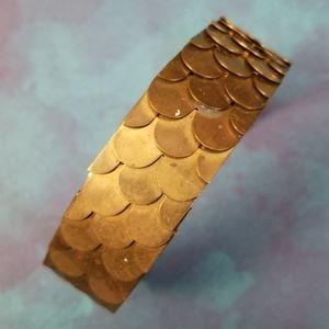 Vintage Dunby Scalare bracelet scales fish mermaid